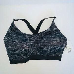 Victoria's NWT Secret black/ white sports bra 34DD